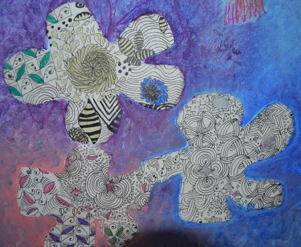 Tangle flowers